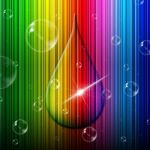 Rain Drop Indicates Color Swatch And Backgrounds Stock Photo