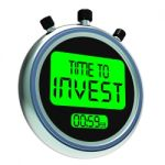 Time To Invest Message Showing Growing Wealth And Savings Stock Photo