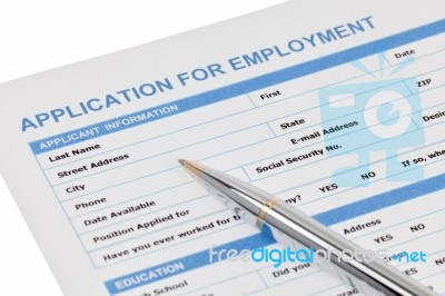 application for employment form stock photo royalty free image id