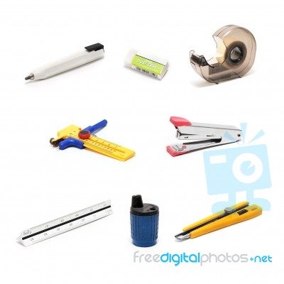 Architecture Drawing Tools Stock Photo