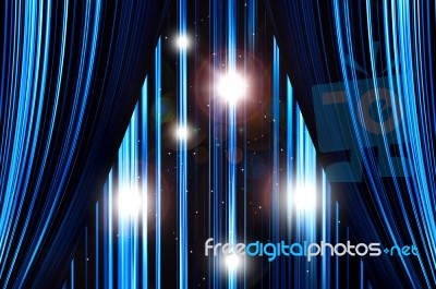 Curtains Ideas blue stage curtains : Blue Stage Curtain Stock Photo - Royalty Free Image ID 100150698