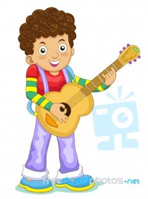 Cartoon Boy Playing Guitar Stock Image Royalty Free Image Id 10077457