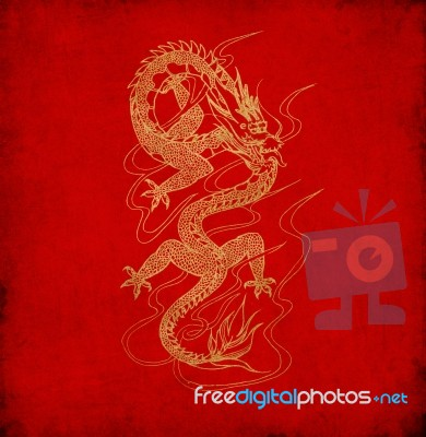 Red Chinese Dragon Wallpaper Download