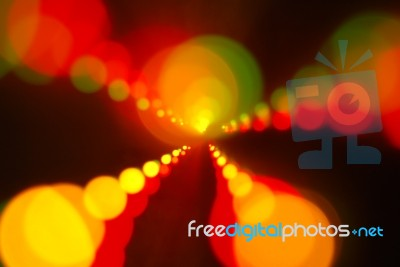 Christmas Lights Glowing (blur Motion Background) Stock