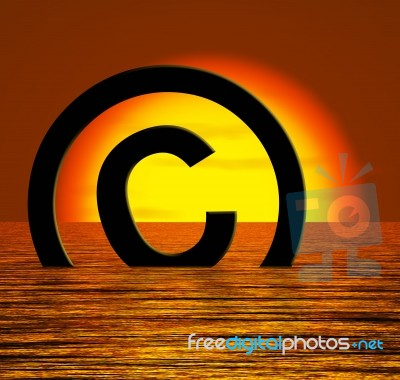 Copyright Symbol Sinking In Sea Stock Image Royalty Free Image Id