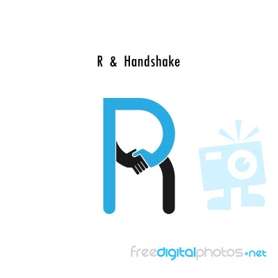 creative r letter icon abstract logo design template stock image