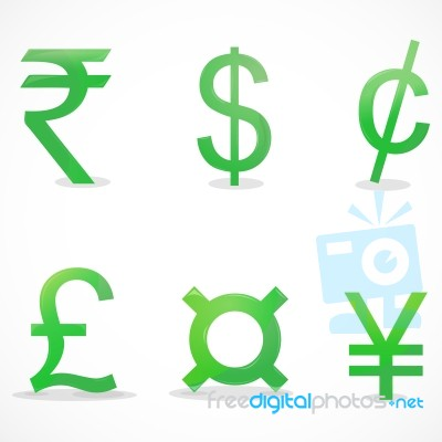 Currency Sign Icons Stock Image Royalty Free Image Id 10050958