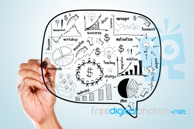 drawing business plan concept idea stock image royalty free image