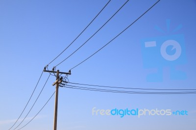 Utility Pole Wires