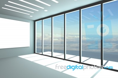 Empty Office Room Stock Image - Royalty Free Image ID 10081137