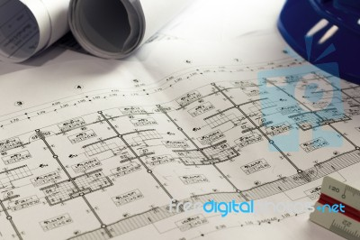 Engineering diagram blueprint paper drafting project sketch arch engineering diagram blueprint paper drafting project sketch arch stock photo malvernweather Choice Image