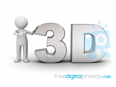figure pointing at word 3d stock image royalty free image id 10093544