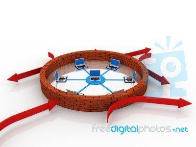 Firewall Protection Stock Image - Royalty Free Image ID 10023329