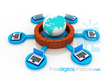 Firewall Protection Stock Image - Royalty Free Image ID 10023739