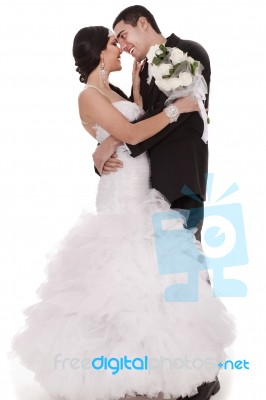 First Dance Bride And Groom Stock Photo