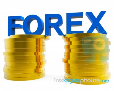 Foreign Exchange Means Forex Trading And Currency Stock Image