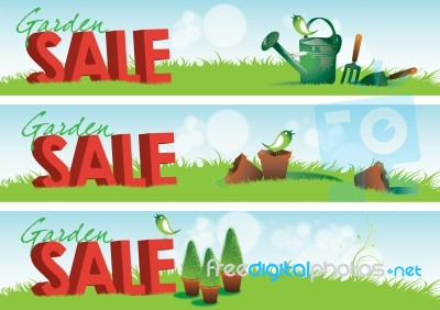 Garden Sale Banners Stock Image Royalty Free Image ID 10035587