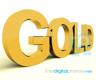 gold word stock image royalty free image id 10079672