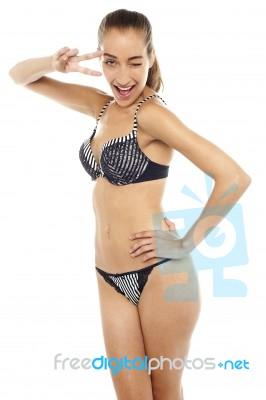 Model Gorgeous Bikini