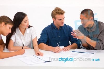 group of diverse business people in meeting stock photo royalty