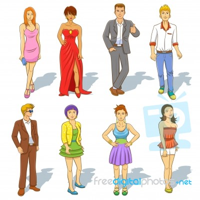 group of people cartoon stock image royalty free image id 100232232