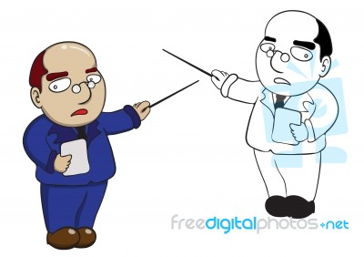 Illustration Of Character Teacher Cartoon Stock Image - Royalty ...