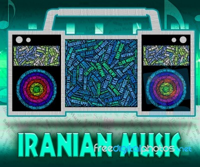 Iranian Music Represents Sound Track And Islamic Stock Image