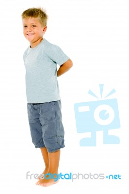 little boy standing stock photo royalty free image id