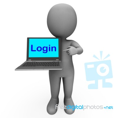 Login Character puter Shows Website Sign In Security