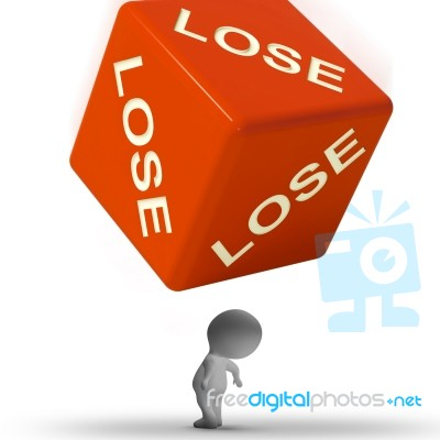 lose dice representing defeat and loss stock image royalty free