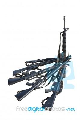 m 16 machine guns