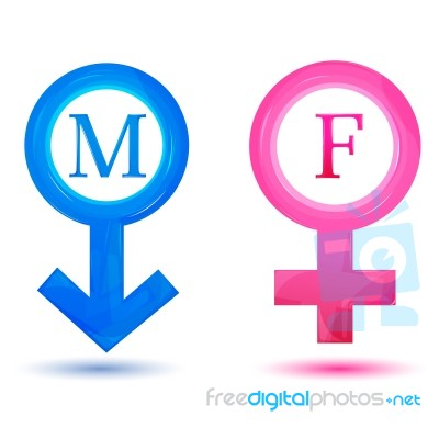 male female signs stock image - royalty free image id 10088422
