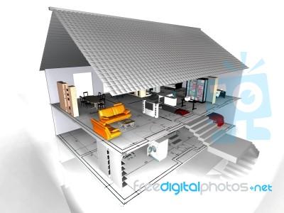 Model house with blueprint stock image royalty free image id 10083300 model house with blueprint stock image malvernweather Choice Image