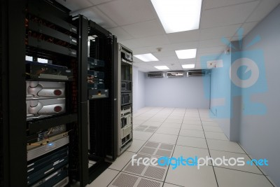Modern Interior Of Server Room In Datacenter Stock Photo - Royalty ...
