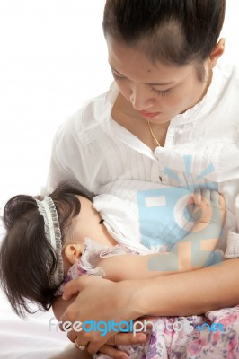 Mother Breastfeeding Her Baby Stock Photo - Image of