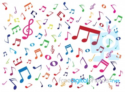 Music notes background stock image royalty free image id 10052838 music notes background stock image voltagebd Image collections