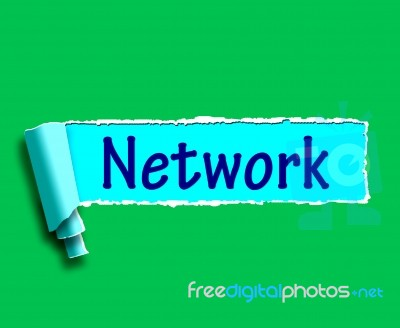 Network Word Means Online Connections And Contacts Stock ...