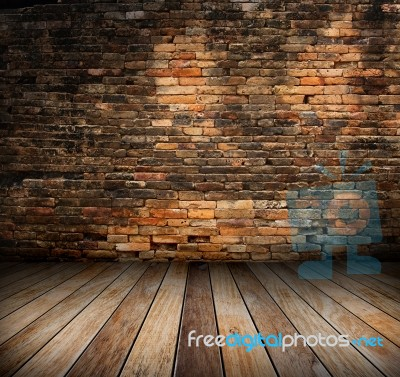 Old room with brick wall stock photo royalty free image - Mur de brique interieur ...