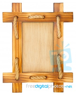 Old Wooden Frame With Rope Stock Photo Royalty Free Image ID