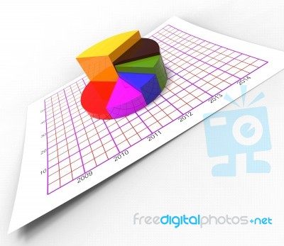 Pie Chart Shows Business Graph And Biz Stock Image Royalty Free
