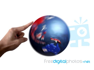 point to moving globe stock image royalty free image id 10036723