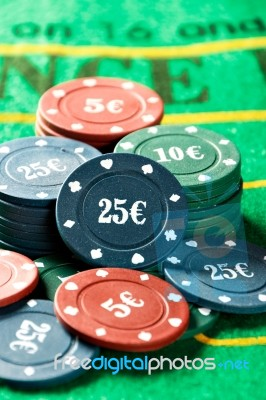 Poker Game Chips Stock Photo Royalty Free Image Id 100592597