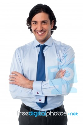 portrait of a confident young business person stock photo