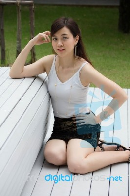 808433b91fe82f Portrait Of Thai Adult Sexy Women Office Beautiful Girl Relax And Smile  Stock Photo