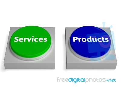 7c97cff5f8a2 Products Services Buttons Shows Product Or Service Stock Image ...