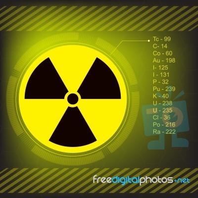 Radiation Warning Symbol Stock Image Royalty Free Image Id 100364579