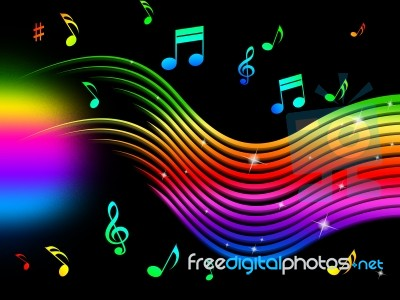 HÌNH NHẠC Rainbow-music-background-means-colorful-lines-and-melodyr-100277830