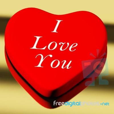 Red Heart With I Love You Text Stock Photo Royalty Free Image Id