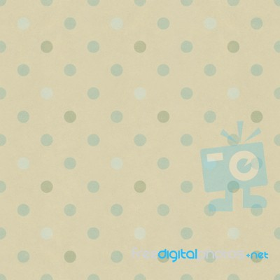 Seamless Polka Dots Pattern On Vintage Paper Texture Stock
