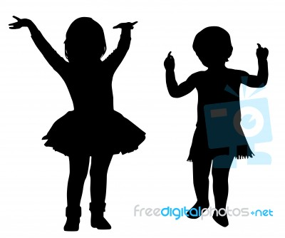 Gallery For gt Little Girl Silhouette Standing